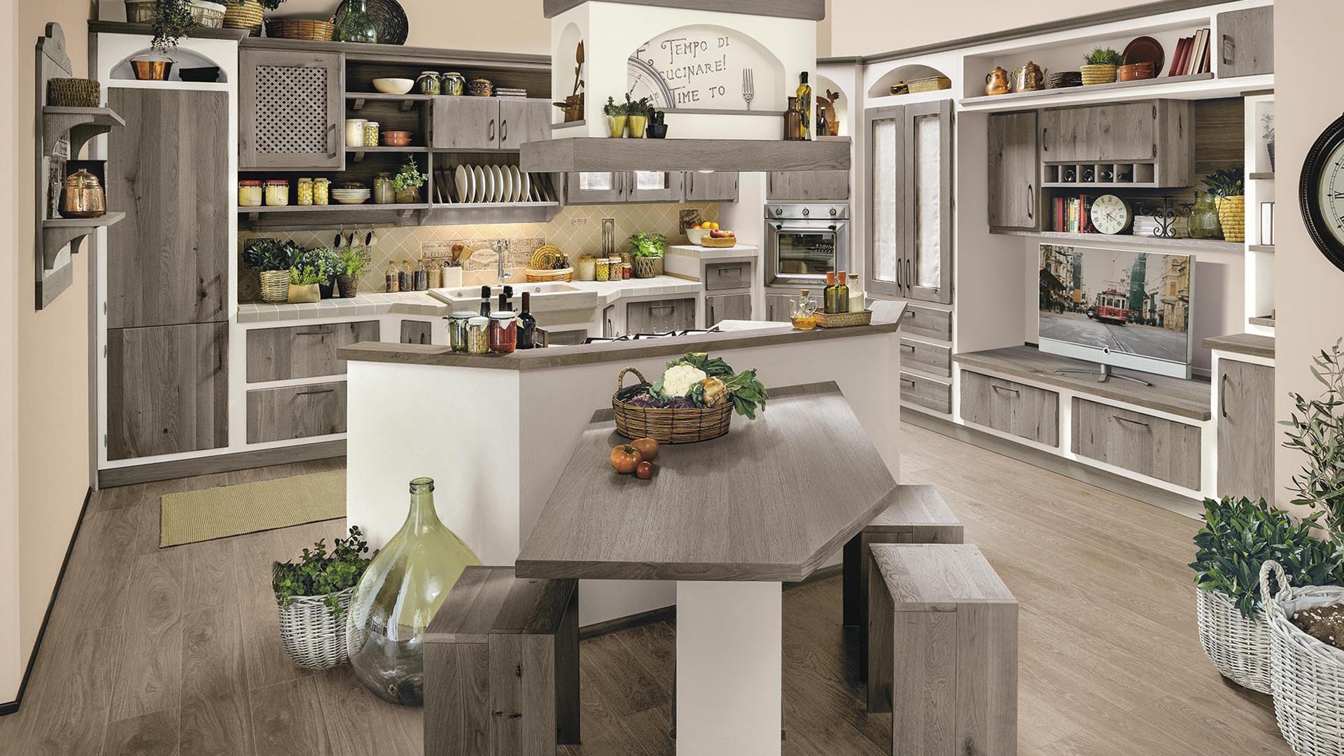 Cucina Rebecca Rovere Fango - Lube & Creo Store Corsico Viale Italia 22